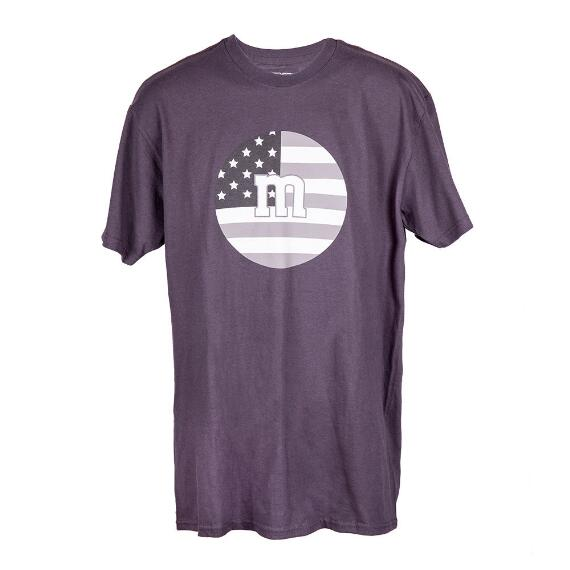 Men's Black M&M'S® Tee Shirt With USA Flag and M Logo Print