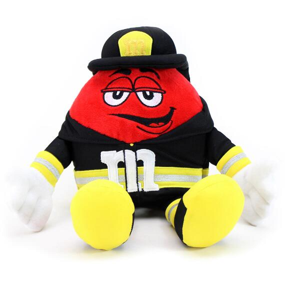M&M'S® Red Character Fireman Plush