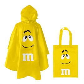 M&M'S® Yellow Character Poncho In Yellow Character Tote Bag