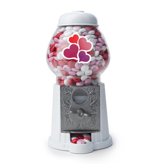 Romantic M&M'S® Candy Dispenser & Personalized M&M'S®