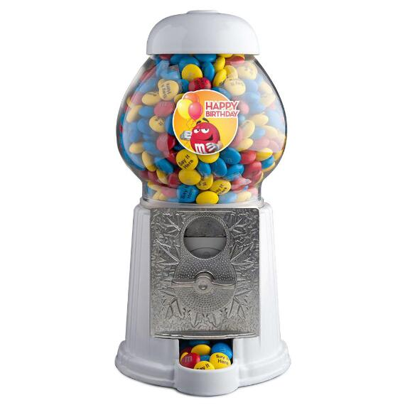 Birthday M&M'S® Dispenser with Personalized M&M'S