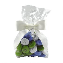 MY M&M'S® Party Favor Bags with Green Ribbon