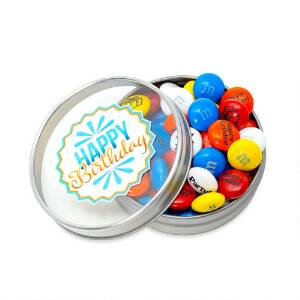 Happy Birthday Candy Favor Tins -Blue