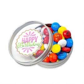 Happy Birthday Candy Favor Tins - Pink
