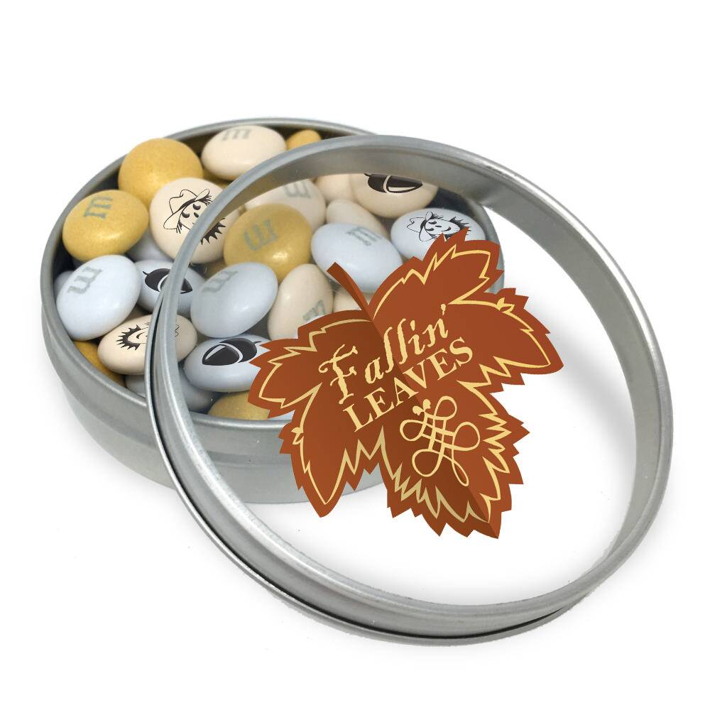 Fall Leaf Tins With 1.5 oz Personalized M&M'S® (20 Tins)