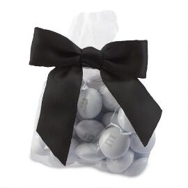 Candy Favor Bags with Black Ribbon