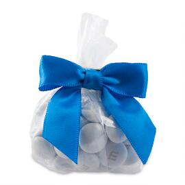 MY M&M'S® Party Favor Bags with Blue Ribbon
