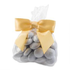 MY M&M'S® Party Favor Bags with Gold Ribbon