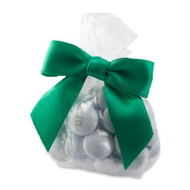 Candy Favor Bags with Green Ribbon