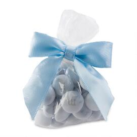 Candy Favor Bags with Light Blue Ribbon