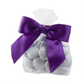 Candy Favor Bags with Purple Ribbon