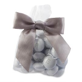 MY M&M'S® Party Favor Bags with Silver Ribbon