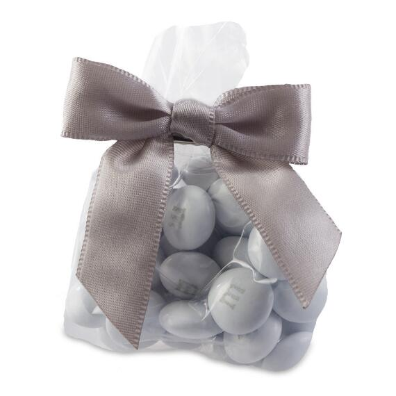 Candy Favor Bags with Silver Ribbon