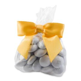 Candy Favor Bags with Yellow Ribbon