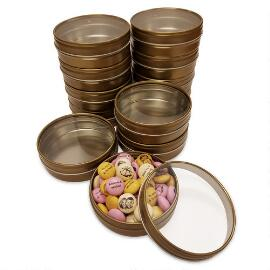 DIY Gold Candy Tin Kit (48 Count)