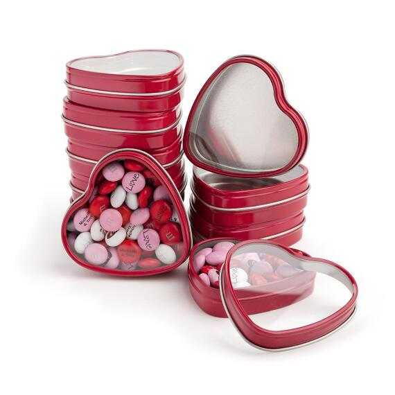Red Heart Favor Tins
