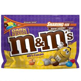 M&M'S® Dark Chocolate Peanut 10.1 Oz. Bag, Sharing Size