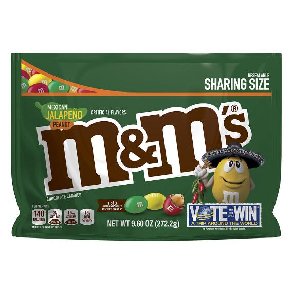 M&M'S® Mexican Jalapeño Peanut 9.6 Oz. Bag, Sharing Size