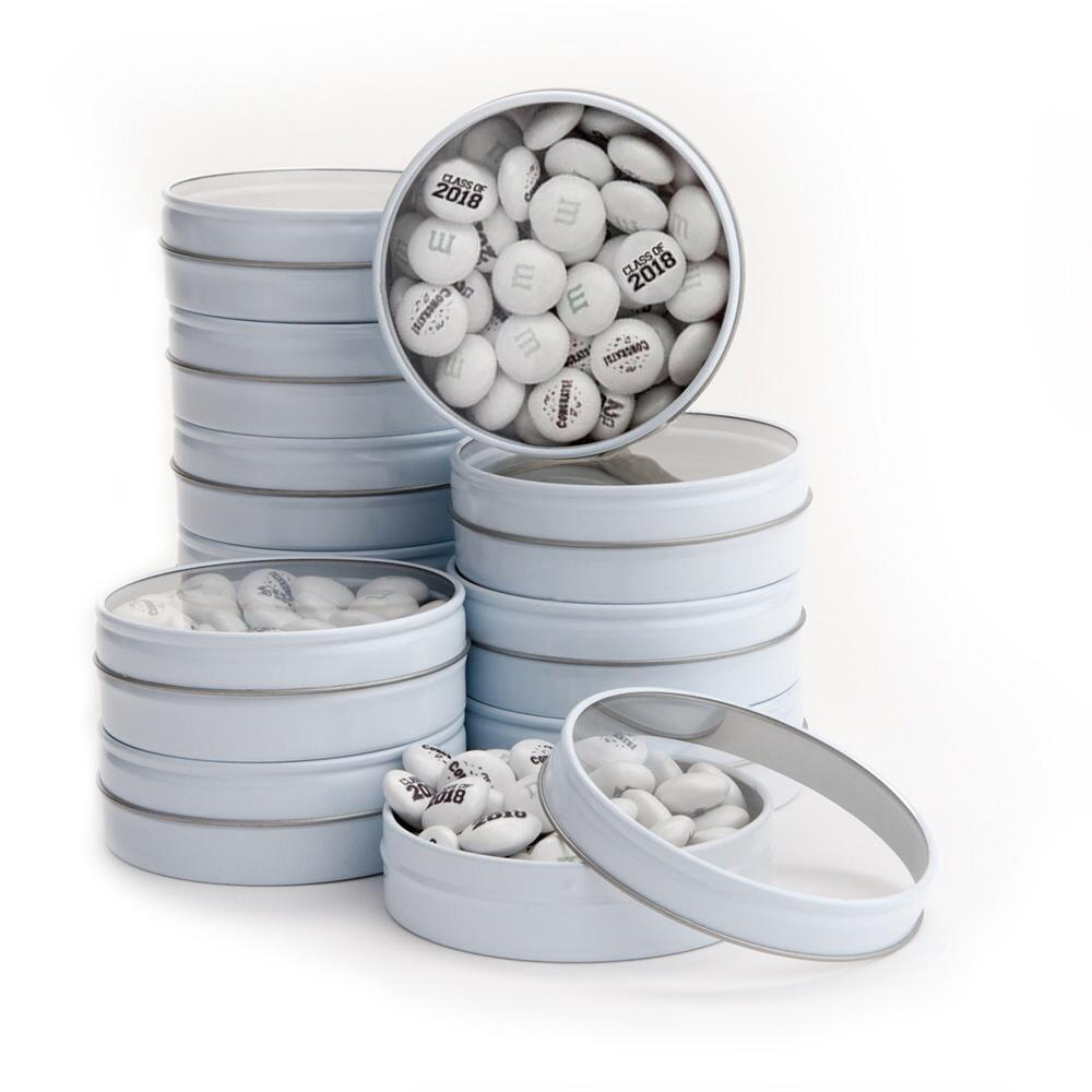 Bulk White Candy Tins Graduation Favor Kit 48 Count | MyMMS.com from ...