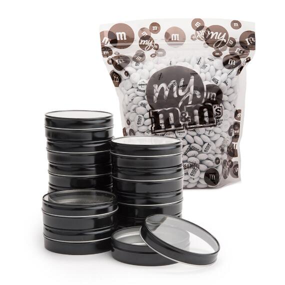 M&M'S® Bulk Black Candy Tins Graduation Favor Kit (48 Count)