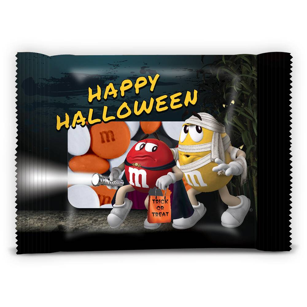 Personalized Individual M&M'S Halloween Party Favors