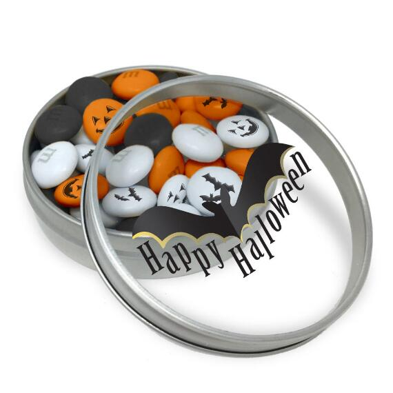 Happy Halloween Bat Favor With 1.5 oz Personalized M&M'S (20 Tins)