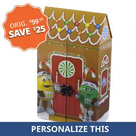 Collectible Musical Christmas Tin & Personalized M&M'S®