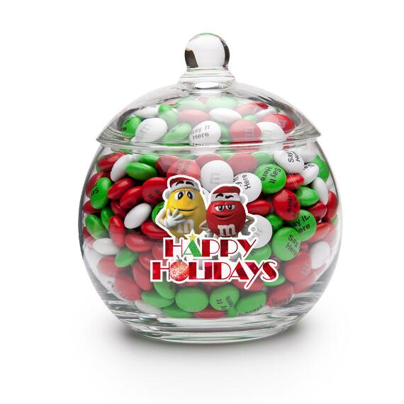 Happy Holidays M&M'S® Characters Candy Jar & Personalized M&M'S®
