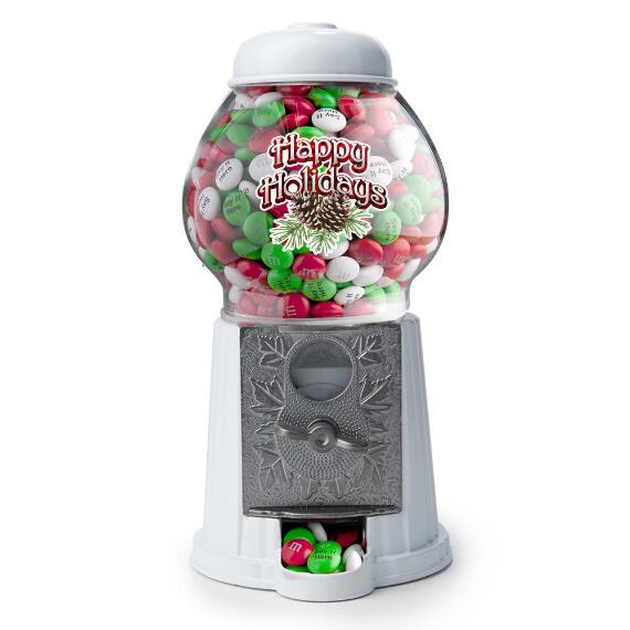 Happy Holidays M&M'S® Dispenser & Personalized M&M'S®