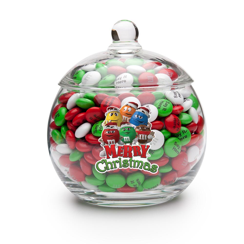 Toronto blue jays christmas ornament - Merry Christmas M M S Characters Candy Jar Personalized M M S Mymms Com