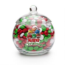 Merry Christmas M&M'S® Characters Candy Jar & Personalized M&M'S®