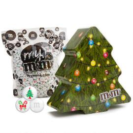Collectible Holiday Tree Tin with Christmas M&M'S®