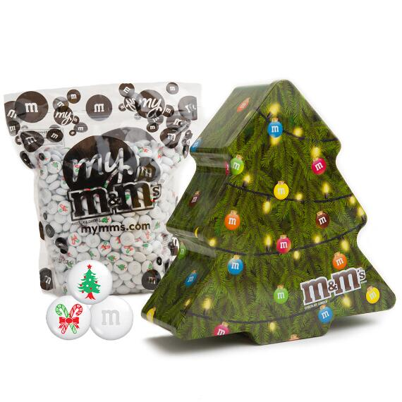 2017 Collectable Holiday Tree Tin with Christmas M&M'S®