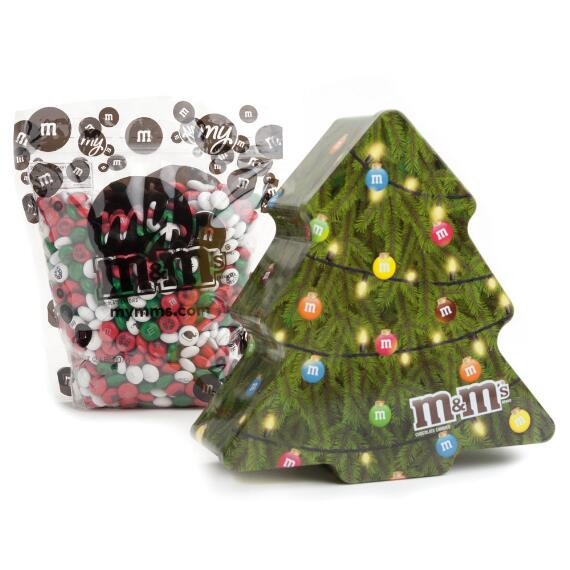 2017 Collectable Holiday Tree Tin With Personalized M&M'S®