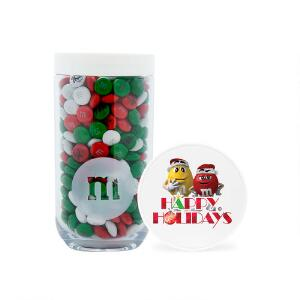 Happy Holidays M&M'S Characters Gifting Jar & Personalized M&M'S