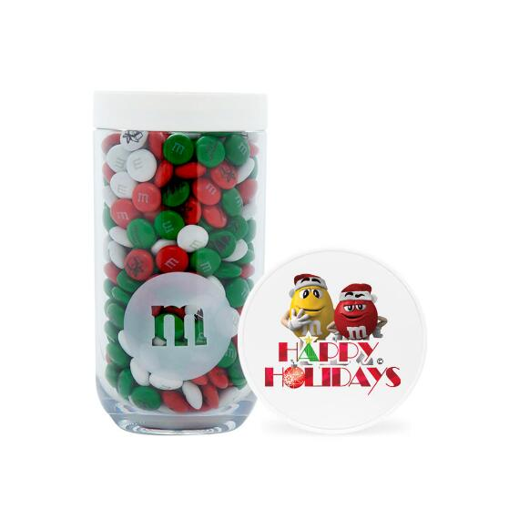Happy Holidays M&M'S® Characters Gifting Jar & Personalized M&M'S®