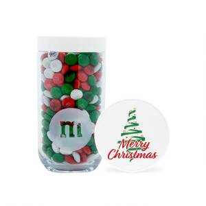 Christmas Tree Gifting Jar with Personalized M&M'S