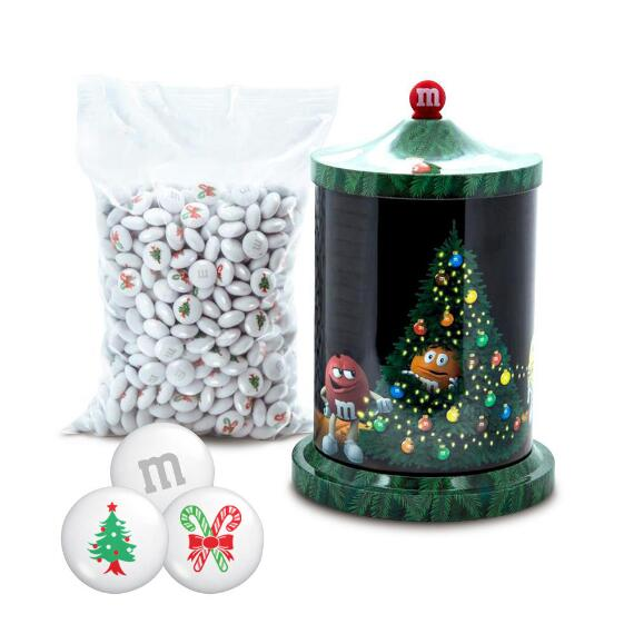 Musical Christmas Tin & Christmas Tree Candy Cane M&M'S®