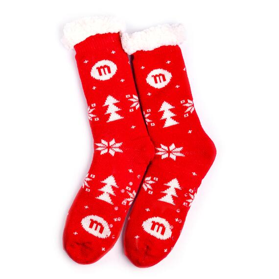 Unisex M&M'S Holiday Sherpa Lined Socks