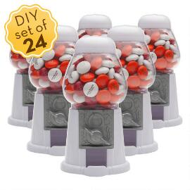 Mini Candy Dispensers & Personalized M&M'S® (24 Count)