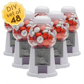 Mini Candy Dispensers & Personalized M&M'S® (48 Count)