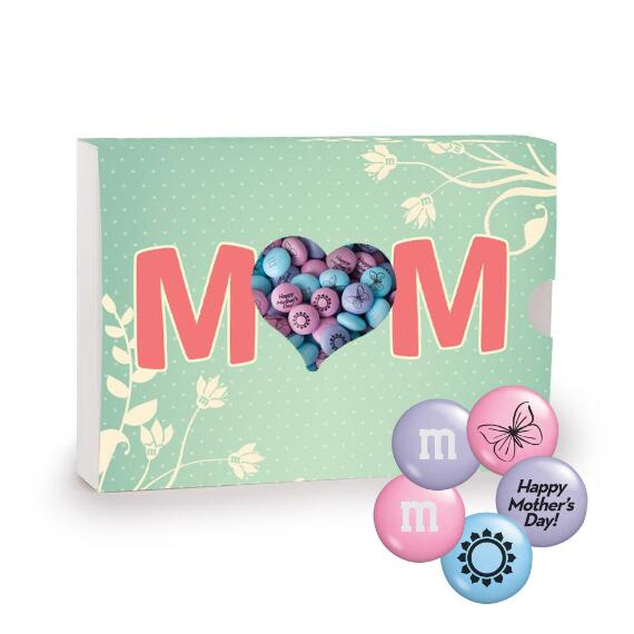 Mom's Aqua Candy Gift Box With Mother's Day M&M'S® Candy Blend
