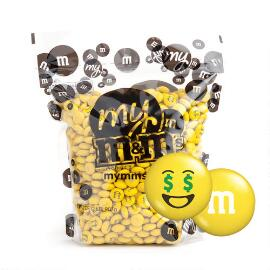 My M&M'S® MY MOODS™ Money Face 2-lb (907g) Bulk Bag