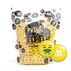 My M&M'S® MY MOODS™ Puke Face 2-lb (907g) Bulk Bag