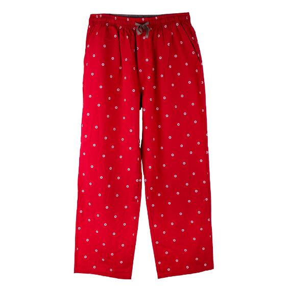 Adult Men's M Logo Red Lounge Pants With Pockets