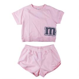 Adult Women's M&M'S® Logo Pink Tee and Short Lounge Set