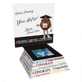 Graduation Cap Gift Box & Personalized M&M'S®