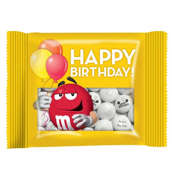 Personalized Birthday Party Favor Packs with Personalized M&M'S®