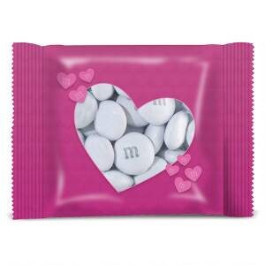 Personalized Pink Heart M&M'S Party Favor Pack
