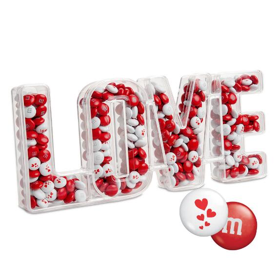 Love Candy Box with Red & White M&M'S®